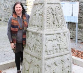 Michelle Brown with Moone Cross ~ Lands Of Eogain Festival, Inishowen
