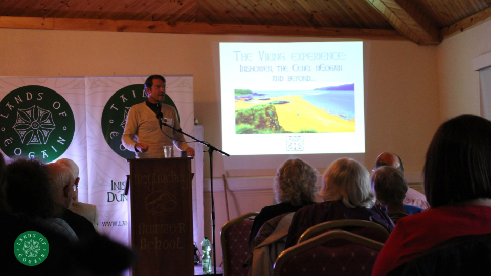 Max Adams talking Vikings and Inishowen at the Lands Of Eogain Festival