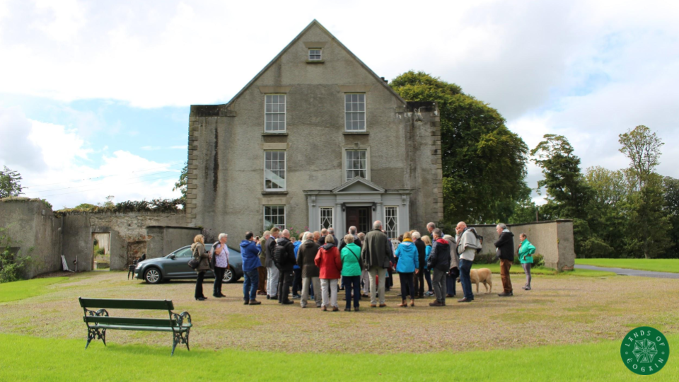 George Mills discussing Culdaff Historic House ~ Inishowen, Donegal