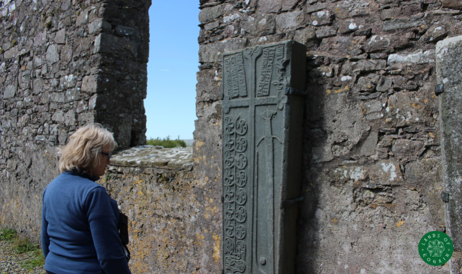 Connection with the past at Cloncha Church, Inishowen ~Lands Of Eogain Event