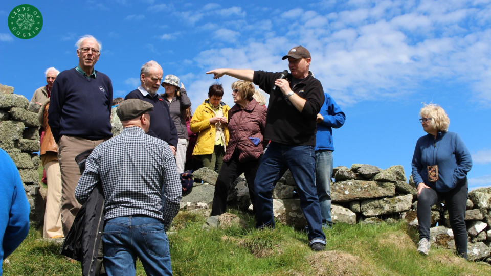 Neil McGrory telling Ancient Stories at Dunowen Fort ~ Lands Of Eogain, Inishowen