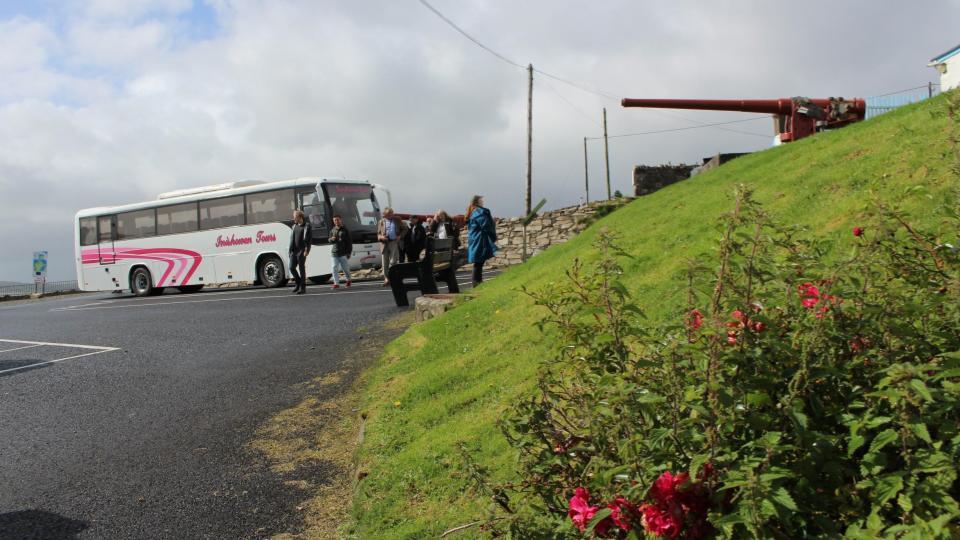 Group arriving at Fort Dunree ~ Lands Of Eogain Festival 2017