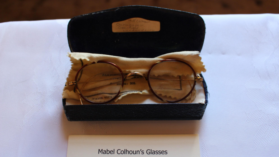 Glasses of Heritage Pioneer Mabel Colhoun ~ Lands Of Eogain Event