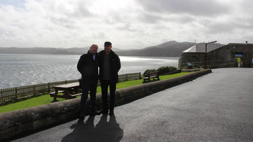 Lands Of Eogain Committee Members Dessie Mc Callion & Neil McGory ~ Dunree, Inishowen